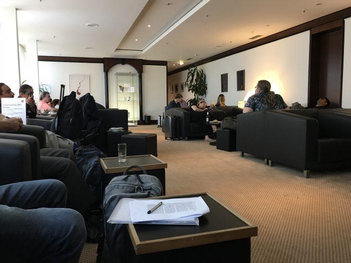 luxxlounge frankfurt airport seating 700x525 - LuxxLounge Frankfurt Airport FRA review