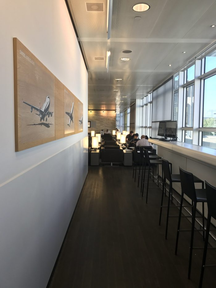 swiss business class lounge geneva airport windows 700x933 - Swiss Business Class Lounge Geneva Airport GVA review