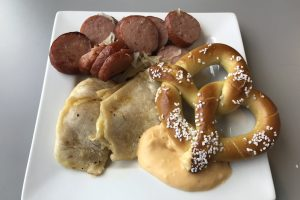 the club pittsburgh lounge kielbasa pierogies pretzel 300x200 - The Club at Pittsburgh International Airport review