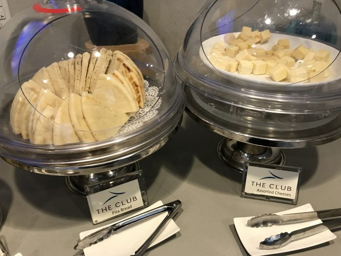 the club pittsburgh lounge pita cheese 700x525 - The Club at Pittsburgh International Airport review