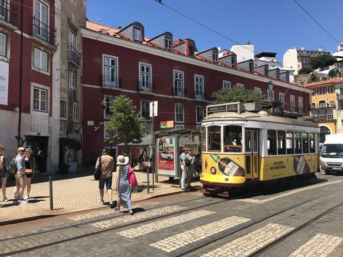 alfama tram lisbon 700x525 - A visit to Sao Jorge Castle & Alfama in Lisbon, Portugal