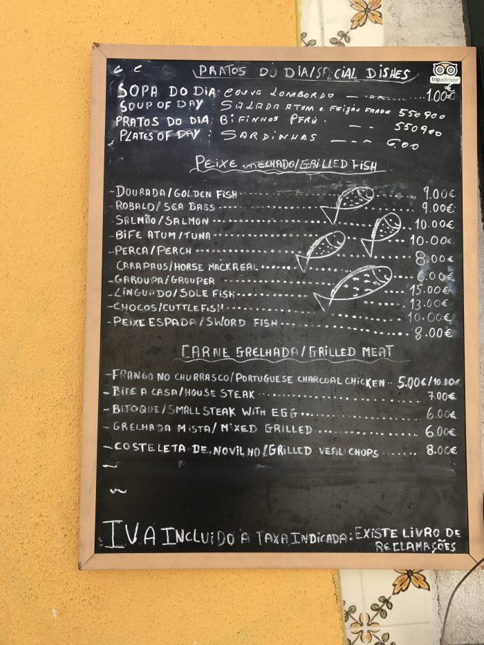 churrasqueria del paz menu 700x933 - The best seafood restaurants in Lisbon, Portugal