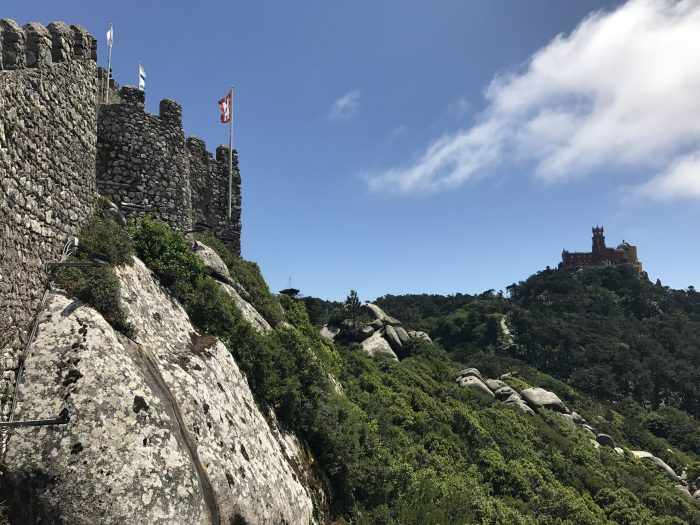 day trip to sintra castle of the moors rocks 700x525 - A day trip from Lisbon to Sintra, Portugal - Castle of the Moors & Pena National Palace