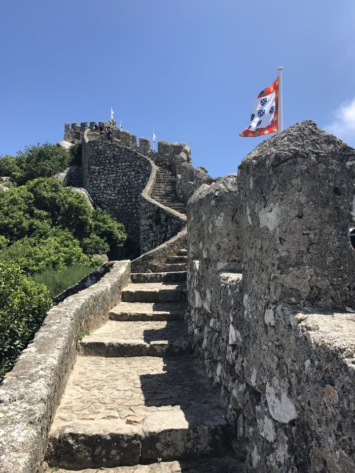 day trip to sintra castle of the moors wall 700x933 - A day trip from Lisbon to Sintra, Portugal - Castle of the Moors & Pena National Palace