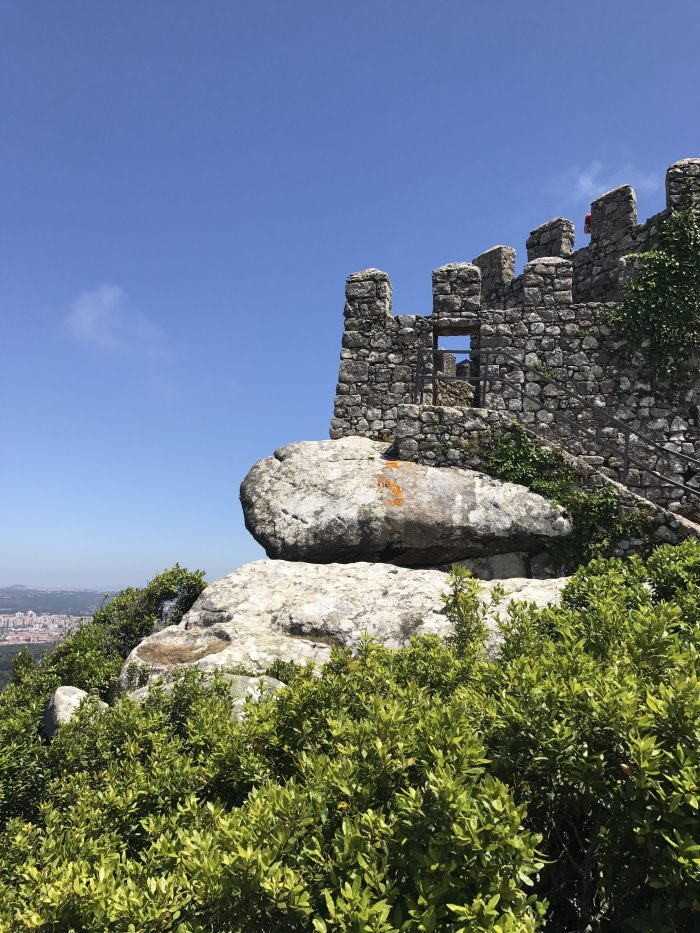day trip to sintra castle of the moors wall rock sintra 700x933 - A day trip from Lisbon to Sintra, Portugal - Castle of the Moors & Pena National Palace