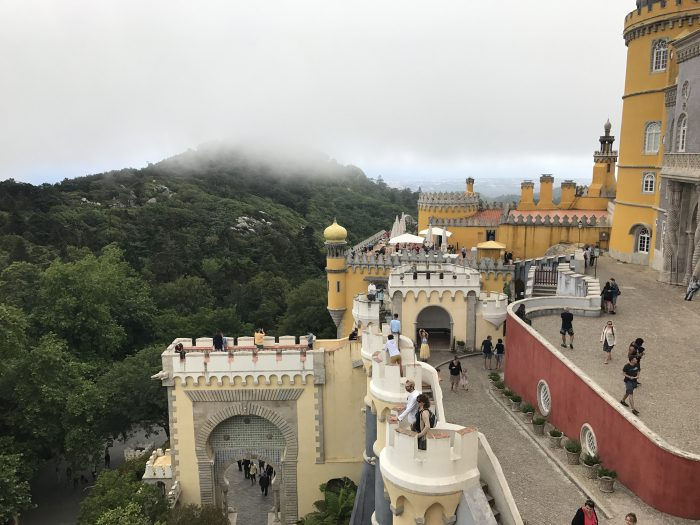 day trip to sintra pena palace colors 700x525 - A day trip from Lisbon to Sintra, Portugal - Castle of the Moors & Pena National Palace