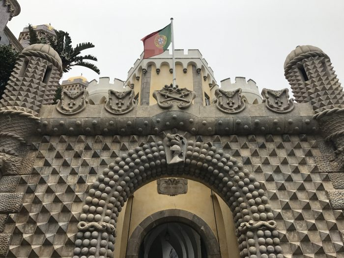 day trip to sintra pena palace entrance 700x525 - A day trip from Lisbon to Sintra, Portugal - Castle of the Moors & Pena National Palace