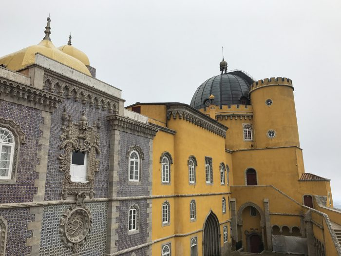 day trip to sintra pena palace wall walk 700x525 - A day trip from Lisbon to Sintra, Portugal - Castle of the Moors & Pena National Palace