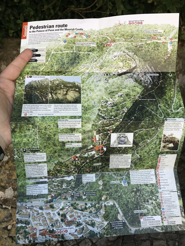 day trip to sintra vila sasseti trail map 700x933 - A day trip from Lisbon to Sintra, Portugal - Castle of the Moors & Pena National Palace