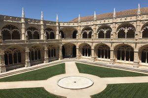 jeronimos monastery courtyard 300x200 - A tour of Belem and the Age of Discovery in Lisbon, Portugal