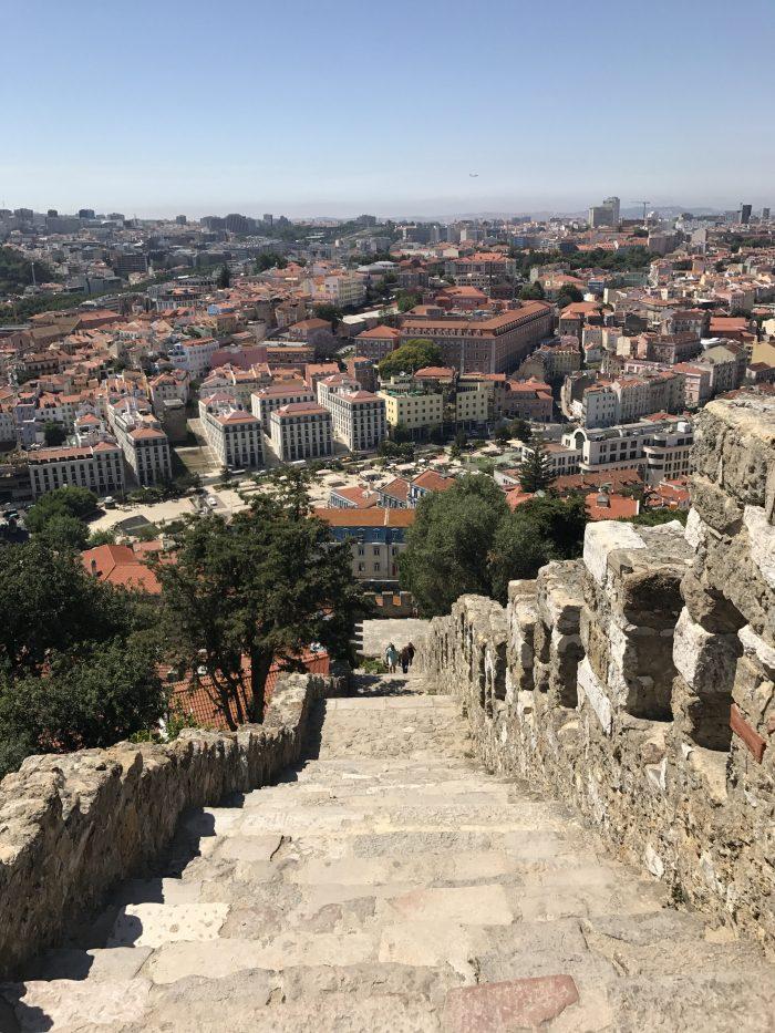 lisbon castle watchtower 700x933 - A visit to Sao Jorge Castle & Alfama in Lisbon, Portugal