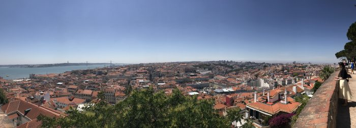 lisbon panorama from castle 700x252 - A visit to Sao Jorge Castle & Alfama in Lisbon, Portugal