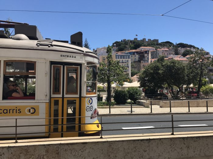 lisbon tram castle 700x525 - The guide to Lisbon's trams including Tram 28