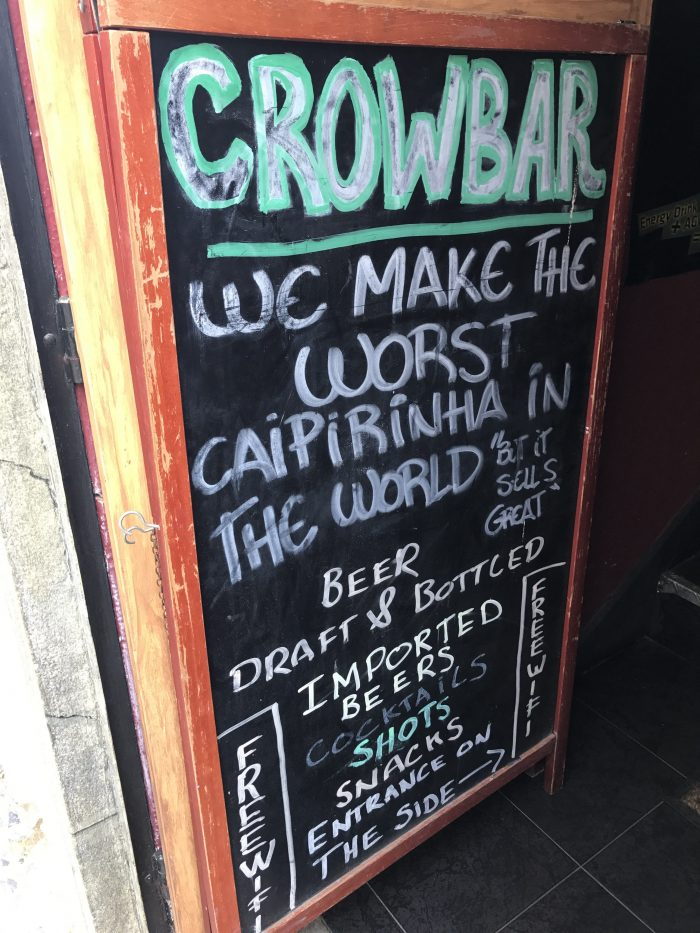worst caipirinha in the world sign 700x933 - The best craft beer in Cascais, Portugal