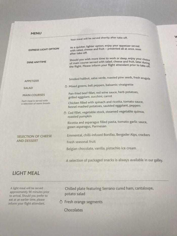 air canada business class food menu boeing 777 200lr frankfurt fra to calgary yyc 700x933 - Air Canada Business Class Boeing 777-200LR Frankfurt FRA to Calgary YYC review