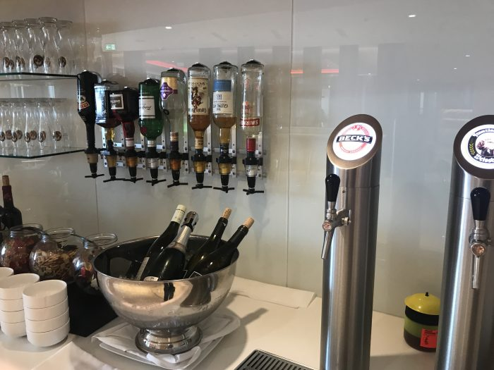 air canada maple leaf lounge frankfurt alcohol 700x525 - Air Canada Maple Leaf Lounge Frankfurt Airport FRA review