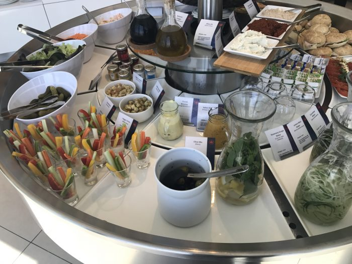 air canada maple leaf lounge frankfurt vegetables 700x525 - Air Canada Maple Leaf Lounge Frankfurt Airport FRA review