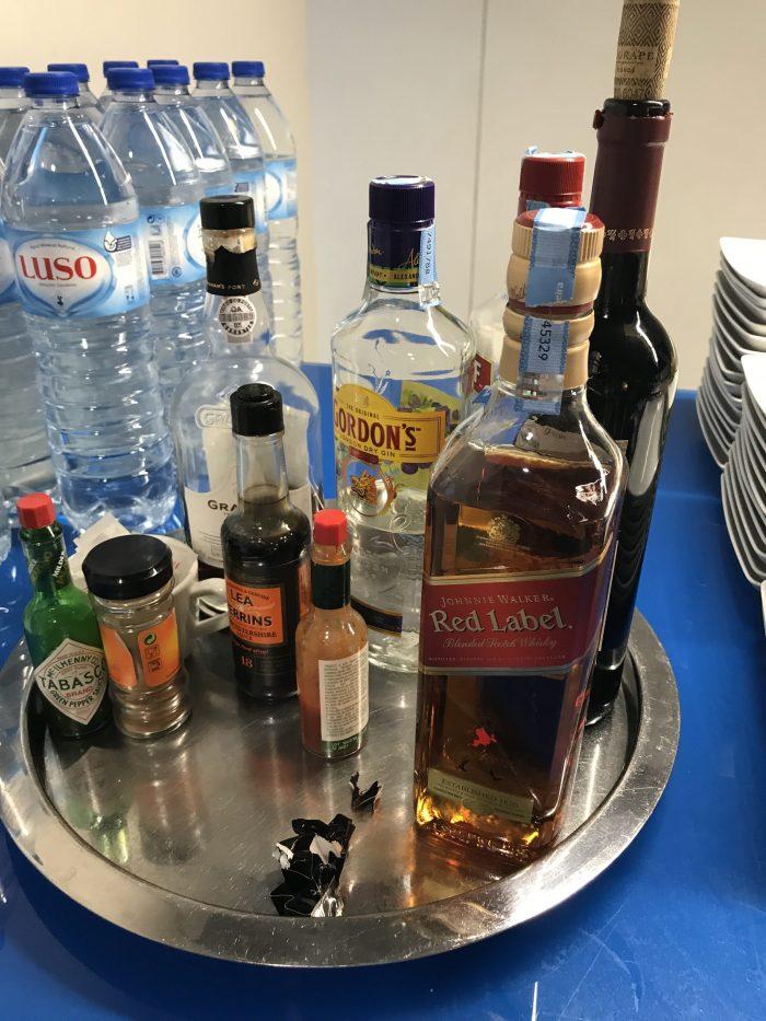 blue lounge lisbon airport alcohol 700x933 - Blue Lounge Lisbon Airport LIS review