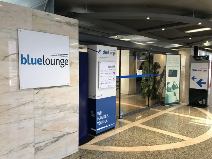 blue lounge lisbon entrance 700x525 - Blue Lounge Lisbon Airport LIS review