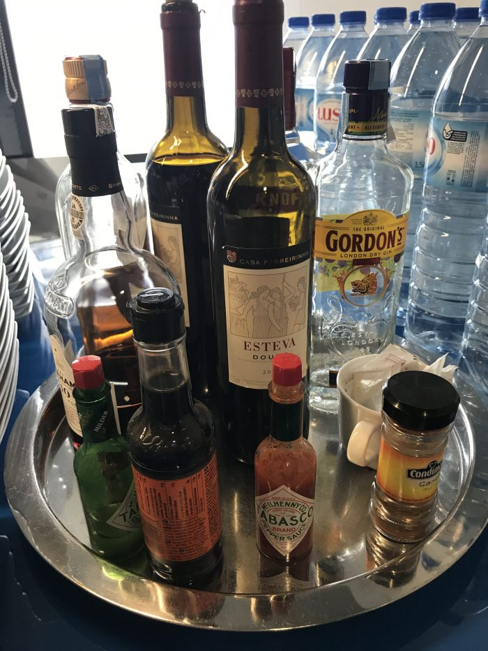 blue lounge lisbon liquor 700x933 - Blue Lounge Lisbon Airport LIS review