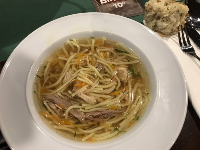 day trip to opava pansky mlyn chicken noodle soup 700x525 - A day trip from Ostrava to Opava, Czech Republic