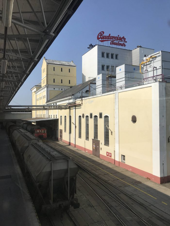 budweiser budvar brewery train 700x933 - A visit to the Budweiser Budvar brewery in Cesky Budejovice, Czech Republic