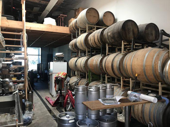 brewlab carpinteria barrel aging 700x525 - The best craft beer in Carpinteria, California