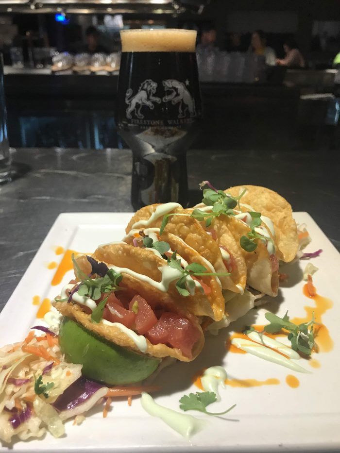 firestone walker craft beer paso robles wookey jack crispy ahi tacos 700x933 - The best craft beer in Paso Robles, California