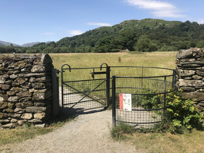 ambleside roman fort entrance 700x525 - A visit to Ambleside Roman Fort in the Lake District, England