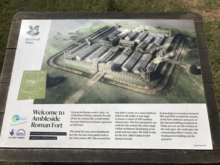 ambleside roman fort layout 700x525 - A visit to Ambleside Roman Fort in the Lake District, England