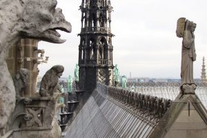 notre dame cathedral roof spire 300x200 - On Notre-Dame Cathedral, evolution, growth, & rebuilding