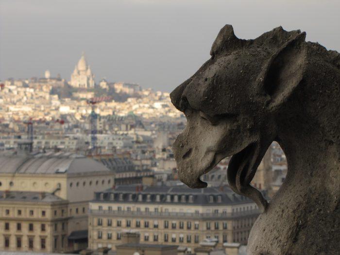 notre dame gargoyle sacre coeur 700x525 - On Notre-Dame Cathedral, evolution, growth, & rebuilding