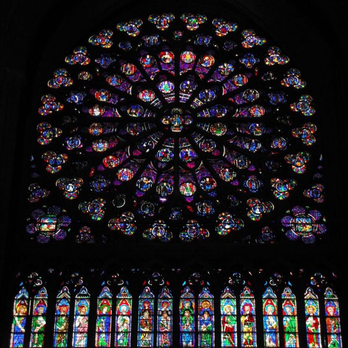 notre dame rose windows 700x700 - On Notre-Dame Cathedral, evolution, growth, & rebuilding