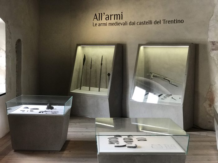 castel beseno armory 700x525 - A visit to Castel Beseno near Trento, Italy
