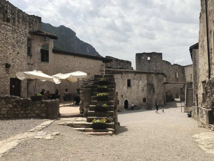 castel beseno cafe courtyard 700x525 - A visit to Castel Beseno near Trento, Italy