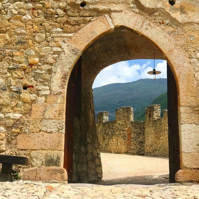castel beseno entrance 700x700 - A visit to Castel Beseno near Trento, Italy
