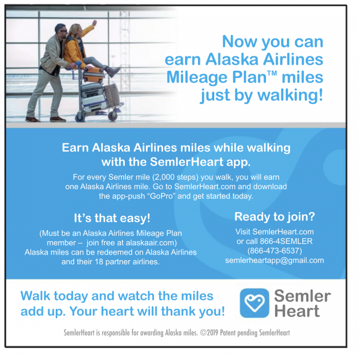 semler heart alaska airlines miles for walking 700x691 - Earn airline miles with the Semler Heart app - is it a good idea?