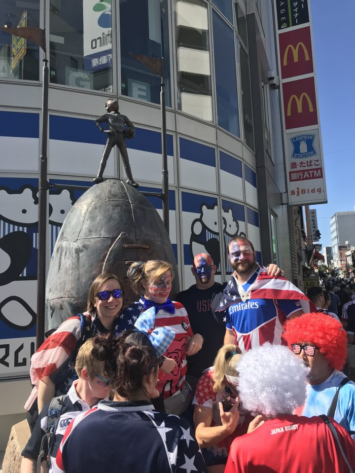 attending rugby world cup 2019 usa argentina american fans kumagaya 700x933 - Attending the Rugby World Cup 2019 in Japan - USA vs Argentina