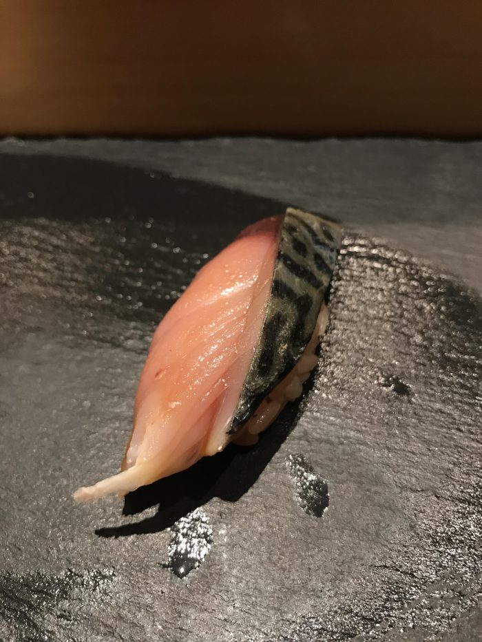manten sushi marunouchi omakase mackerel 700x933 - Eating omakase at Manten Sushi Marunouchi in Tokyo, Japan