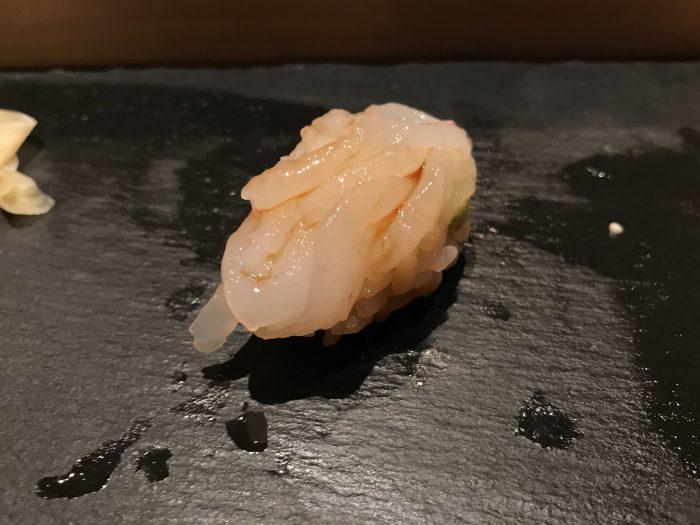 manten sushi marunouchi omakase white shrimp 700x525 - Eating omakase at Manten Sushi Marunouchi in Tokyo, Japan