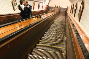 escalator st annas tunnel antwerp 300x200 - A visit to St. Anna's Tunnel in Antwerp, Belgium