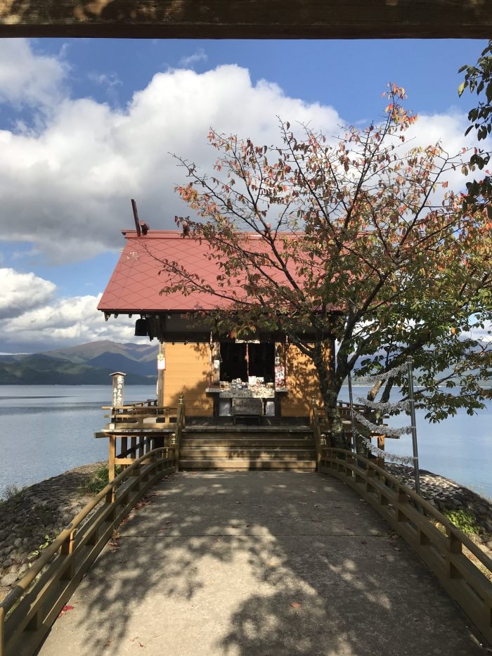 kansagu shrine lake tazawa 700x933 - A day trip from Morioka to Lake Tazawa, Japan