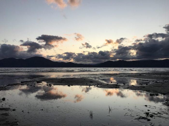 lake tazawa sunset 700x525 - A day trip from Morioka to Lake Tazawa, Japan