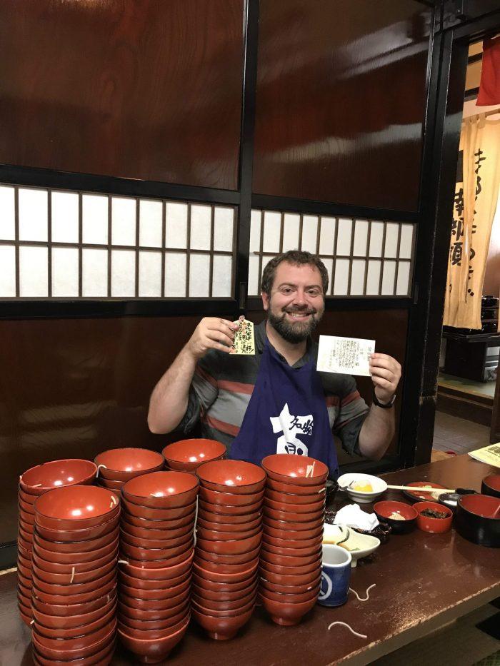 wanko soba morikoka 700x933 - The Three Great Noodles of Morioka, Japan