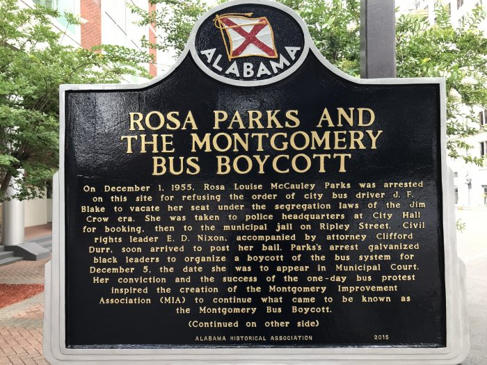 rosa parks montgomery bus boycott 700x525 - Learning about civil rights history in Montgomery, Alabama