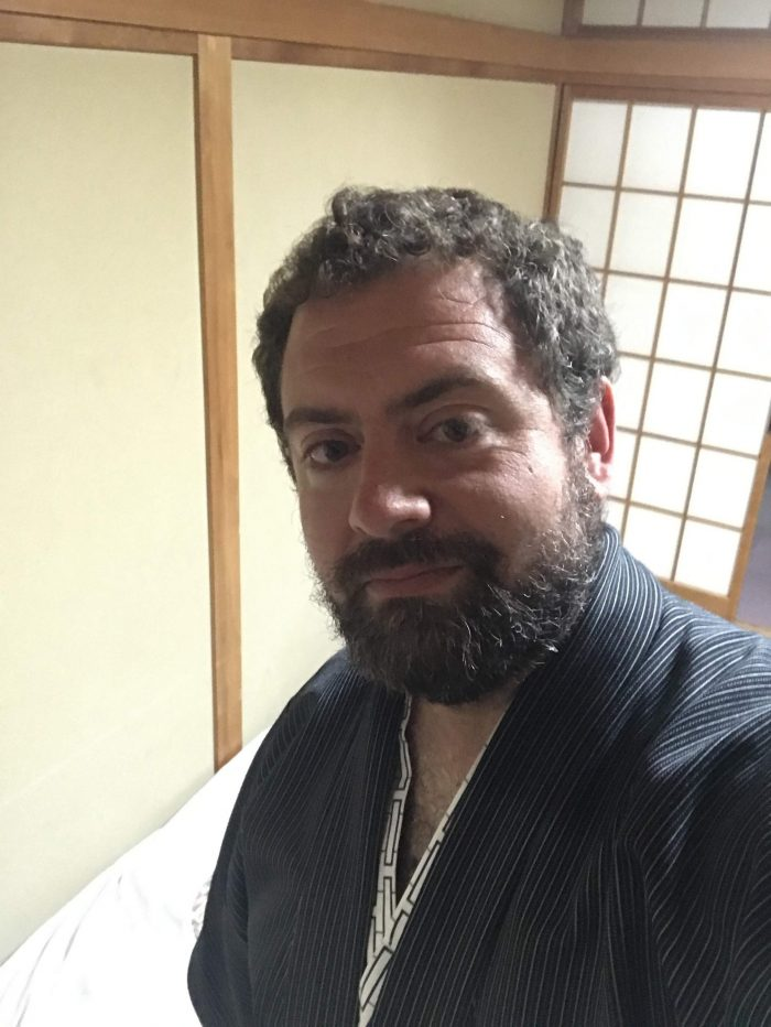 me wearing a yukata 700x932 - A stay at an onsen ryokan in Yuzawa, Japan