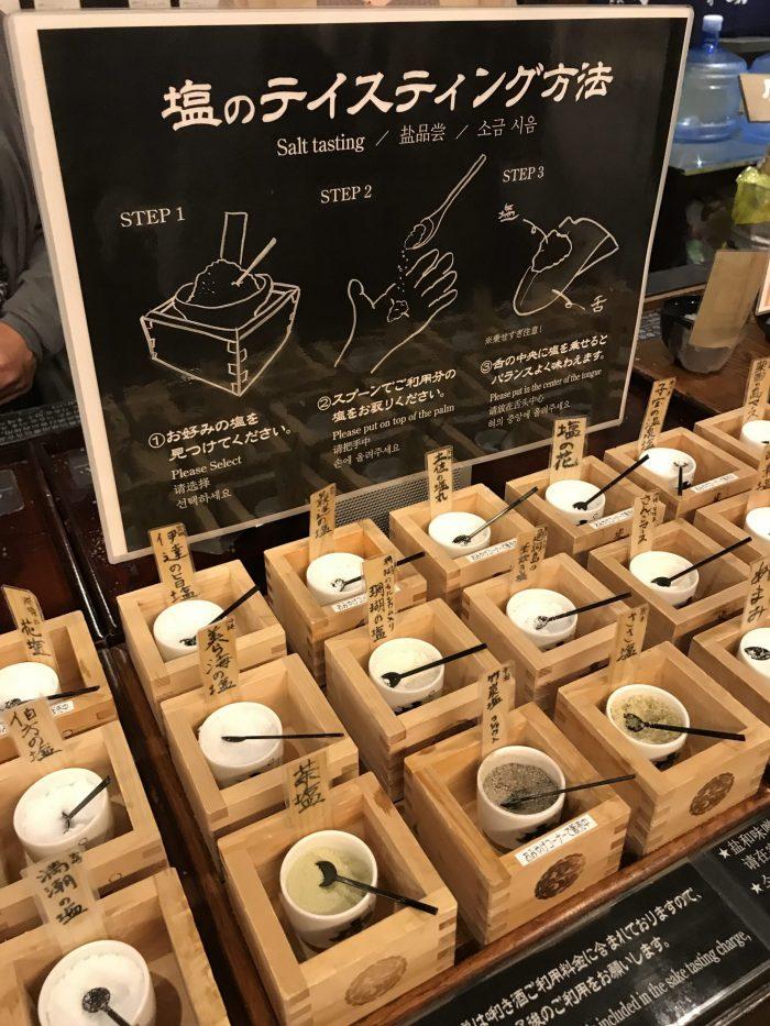 ponshukan sake museum salt tasting 700x933 - The guide to sake in Yuzawa, Japan