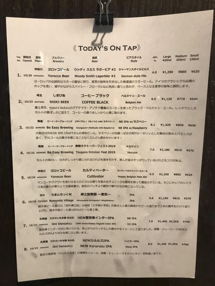 sakura taps craft beer yokohama 700x933 - The best craft beer in Yokohama, Japan