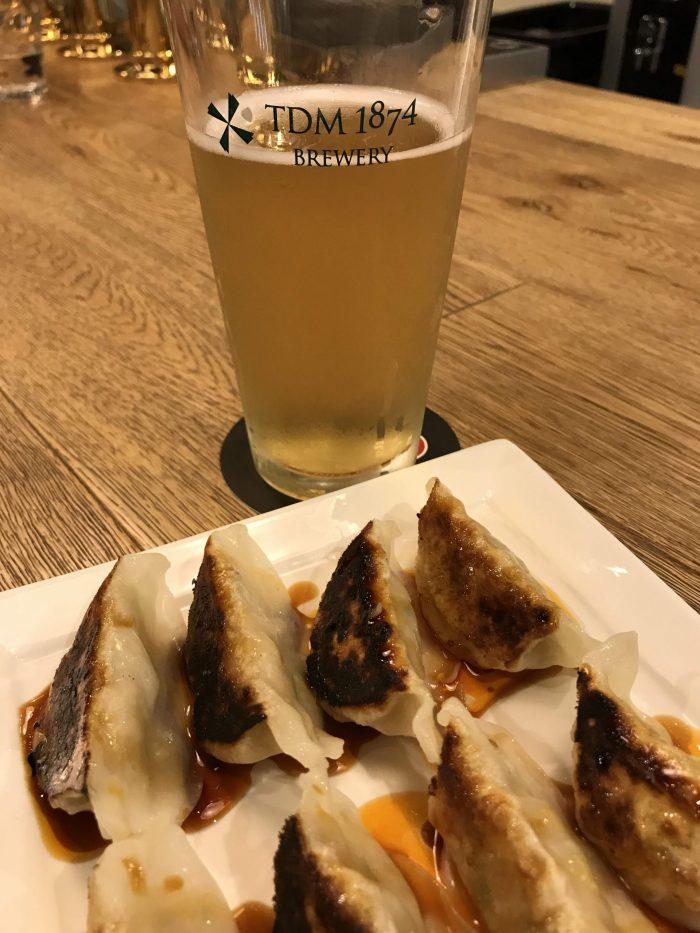 tdm 1874 brewery beer gose gyoza yokohama 700x933 - The best craft beer in Yokohama, Japan