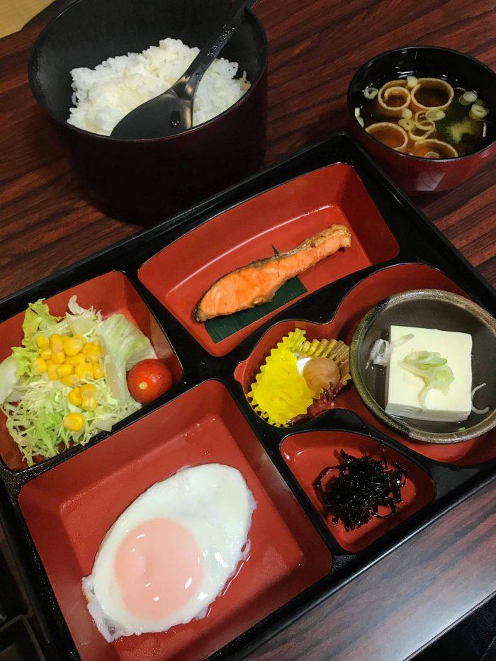yuzawa hotel breakfast 700x933 - A stay at an onsen ryokan in Yuzawa, Japan